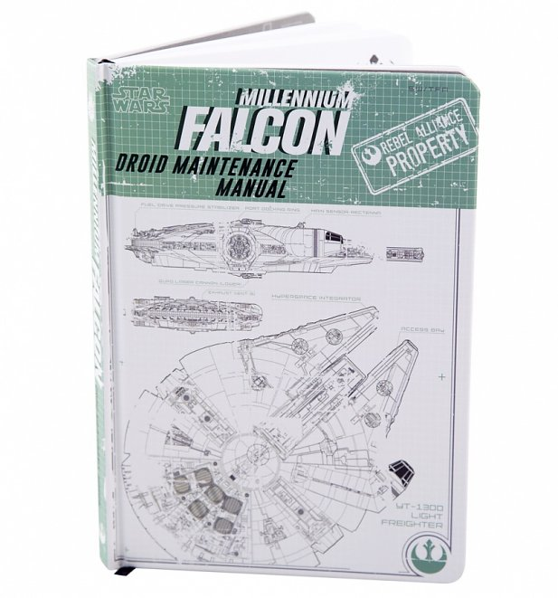 Star Wars Millennium Falcon Manual Notebook