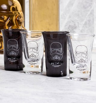 Star Wars Stormtrooper Set Of 4 Shot Glasses