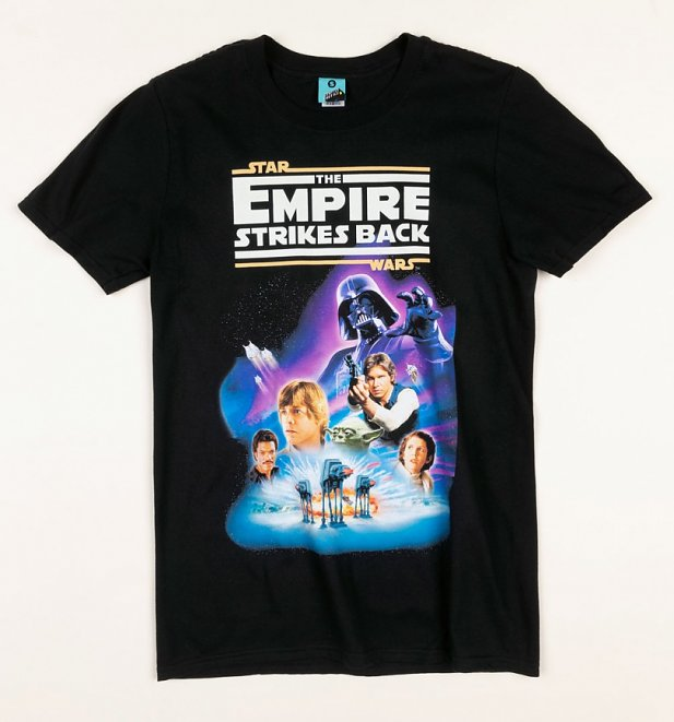 Star Wars The Empire Strikes Back Black T-Shirt