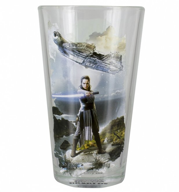 Star Wars Episode VIII The Last Jedi Rey Boxed Glass
