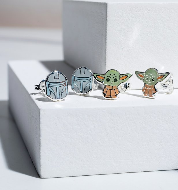 Star Wars The Mandalorian Set of Two Stud Earrings
