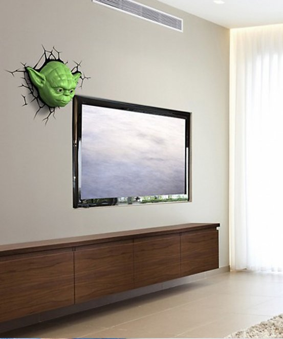 Star Wars Yoda 3D Wall Light With Remote Control