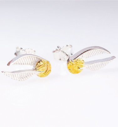 Sterling Silver Harry Potter Golden Snitch Stud Earrings