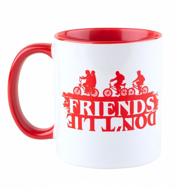 Stranger Things Friends Don't Lie Red Handle Mug