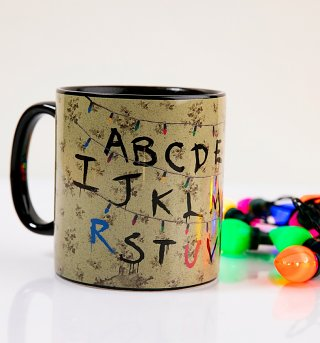 Stranger Things Heat Changing Alphabet Lights Mug