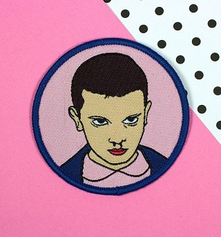 Stranger Things Inspired Eleven Woven Patch from Punky Pins