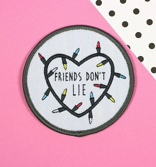 Stranger Things Inspired Friends Don't Lie Woven Patch from Punky Pins