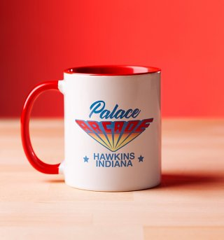 Stranger Things Inspired Palace Arcade Red Handle Mug