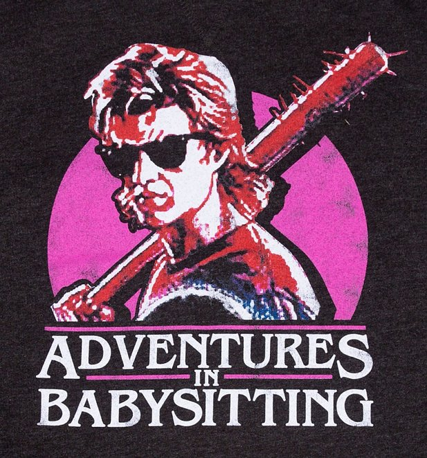 Stranger Things Inspired Steve Adventures In Babysitting Black Heather Sweater