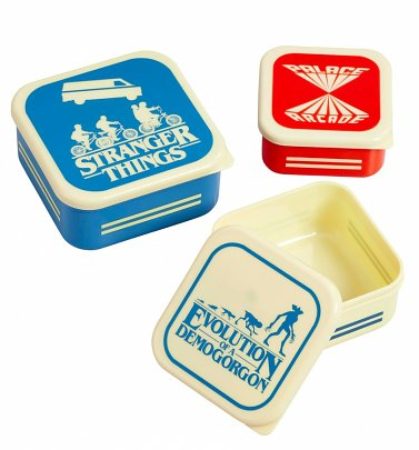 Stranger Things Set Of Three Snack Boxes from Funko