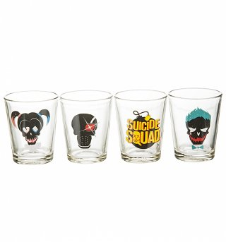Suicide Squad Set Of 4 Shot Glasses