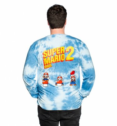 Super Mario Bros. 2 Long Sleeve Tie Dye T-Shirt from Cakeworthy