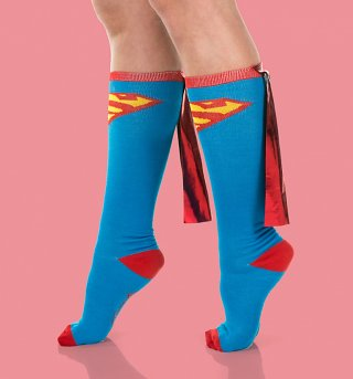 Superman Knee High Socks with Cape