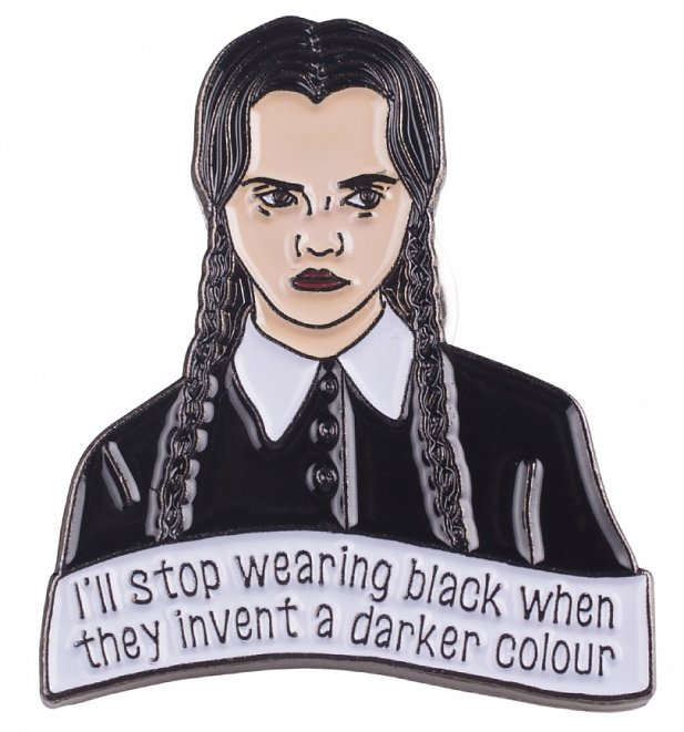The Addams Family Inspired Wednesday Addams Enamel Pin from Punky Pins