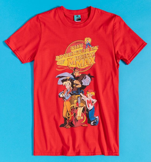 The Adventures Of Mighty Max Red T-Shirt
