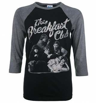 The Breakfast Club Group Black and Grey Raglan Baseball T-Shirt