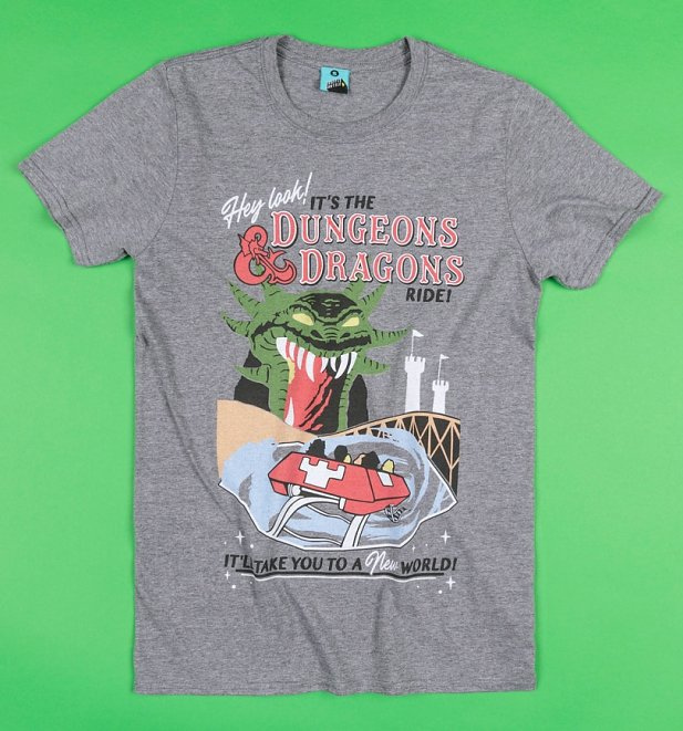 The Dungeons And Dragons Ride Grey T-Shirt