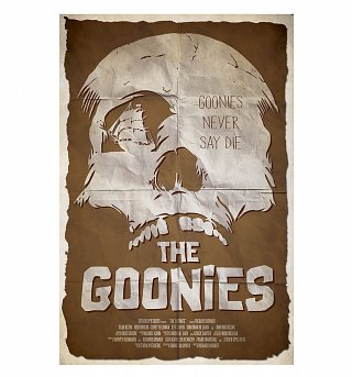 "The Goonies Never Say Die 11.7"" x 16.5"" Art Print"