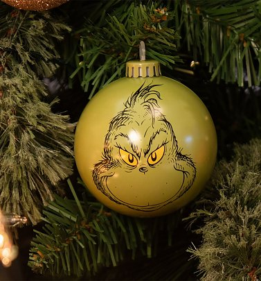 The Grinch Bauble Christmas Decoration from Bauble Heads