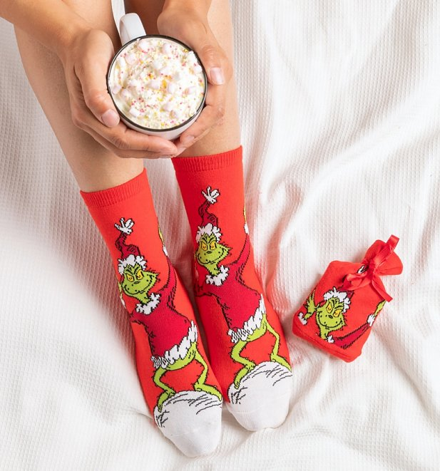 The Grinch Christmas Socks