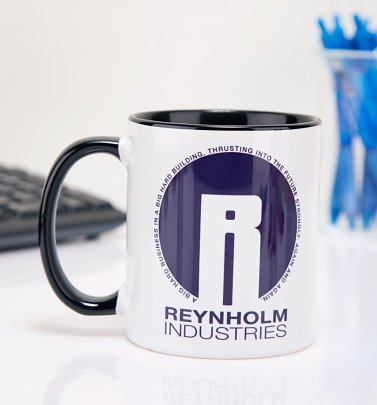 The IT Crowd Inspired Reynholm Industries Black Handle Mug