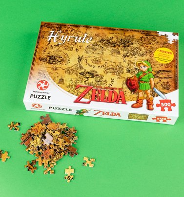 The Legend Of Zelda Hyrule Map 500 Piece Jigsaw Puzzle