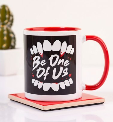 The Lost Boys Inspired Be One Of Us Red Handle Mug