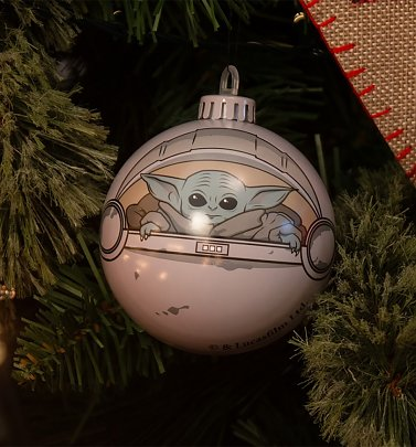 The Mandalorian Baby Yoda Bauble Christmas Decoration from Bauble Heads