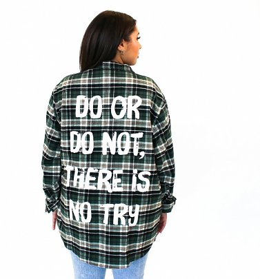 Star Wars Yoda Do Or Do Not Flannel Shirt from Cakeworthy
