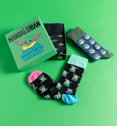 The Mandalorian The Child Pack of Three Socks in Gift Box