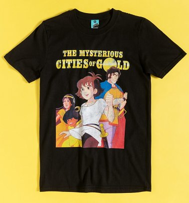 The Mysterious Cities Of Gold Black T-Shirt