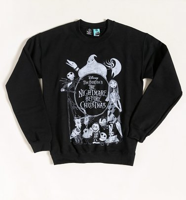 The Nightmare Before Christmas Black Sweater