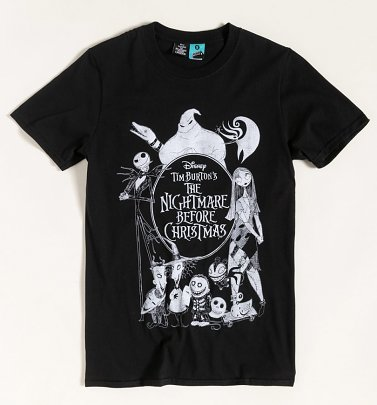 The Nightmare Before Christmas Black T-Shirt