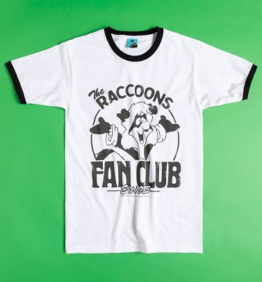 The Raccoons Fan Club White And Black Ringer T-Shirt