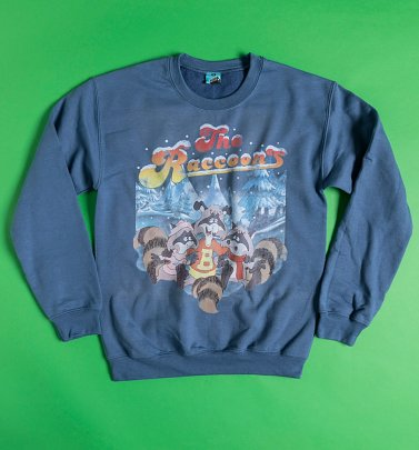 The Raccoons Winter Scene Sweater