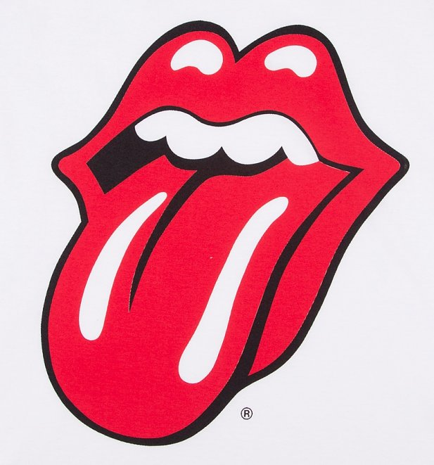 The Rolling Stones Classic Tongue Logo Raglan Baseball T-Shirt