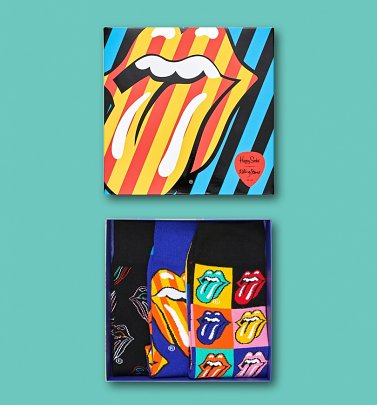 The Rolling Stones Socks 3 Pack Gift Box from Happy Socks