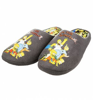 The Simpsons Family Embroidered Slippers