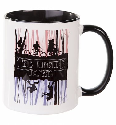 The Upside Down Stranger Things Inspired Black Handle Mug