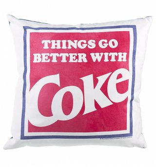 Things Go Better With Coke Blue Cushion