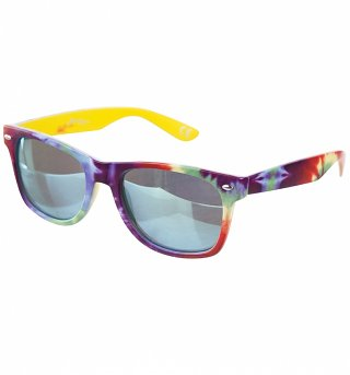 Tie Dye Way Farer Sunglasses With Mirror Lens from Jeepers Peepers