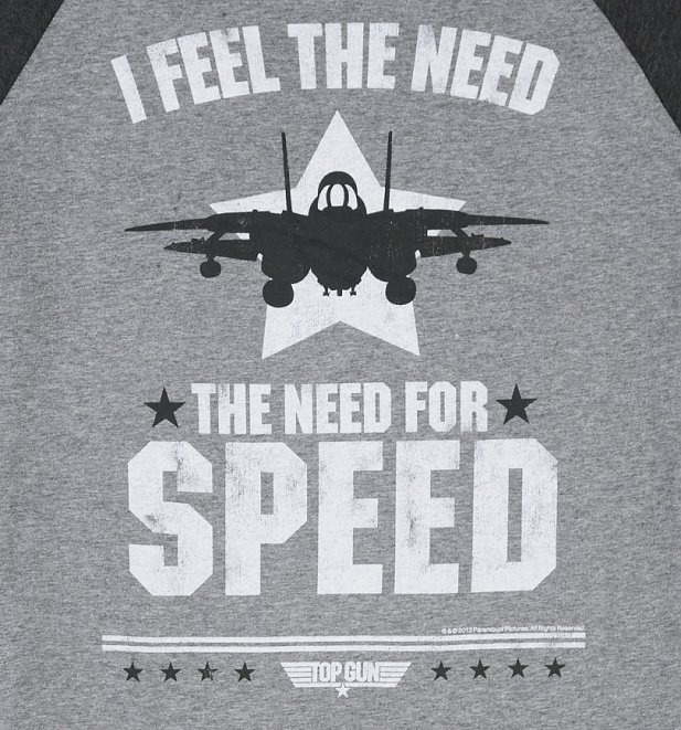 Top Gun Need For Speed Baseball T-Shirt
