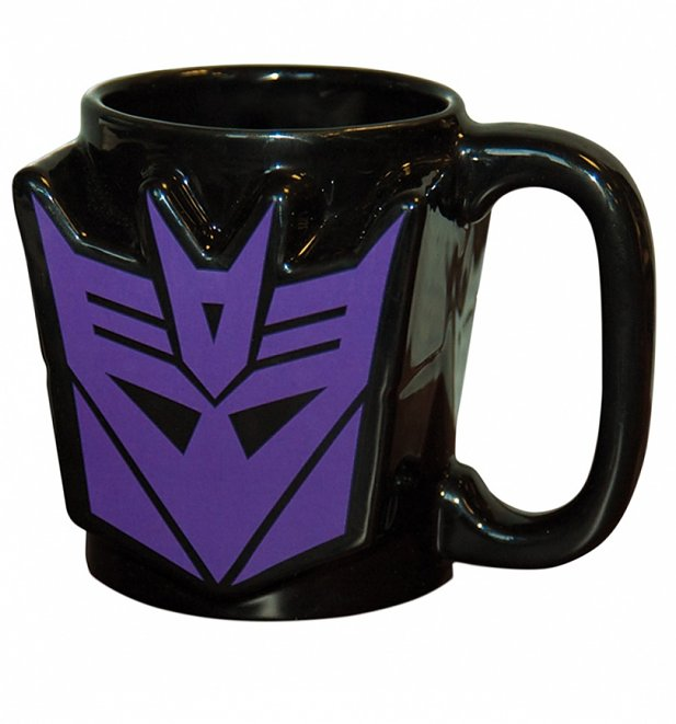 Transformers Decepticon Shield Shaped Mug