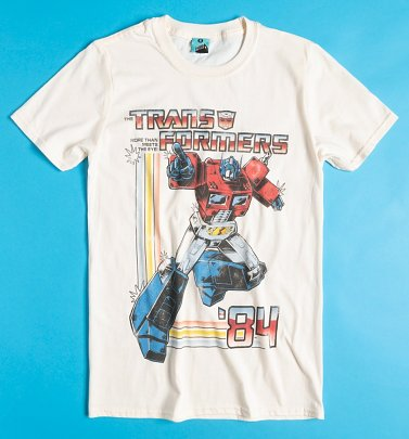 Transformers Optimus Prime Ecru T-Shirt