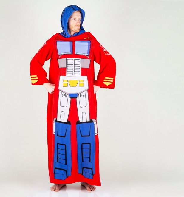 Transformers Optimus Prime Snuggler Blanket With Sleeves