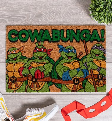 Turtles Cowabunga Door Mat