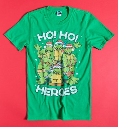Turtles Ho Ho Heroes Green T-Shirt