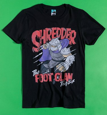 Turtles Shredder Foot Clan Tour Black T-Shirt