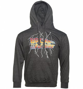 Back to the Future Lightning Bolt Charcoal Hoodie