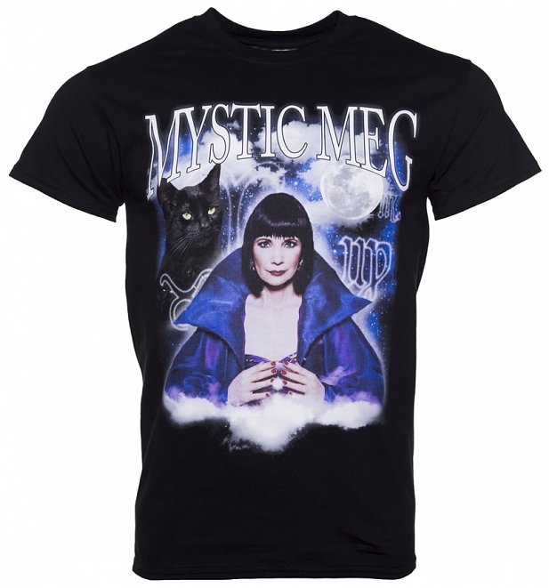 Black Mystic Meg T-Shirt from Homage Tees